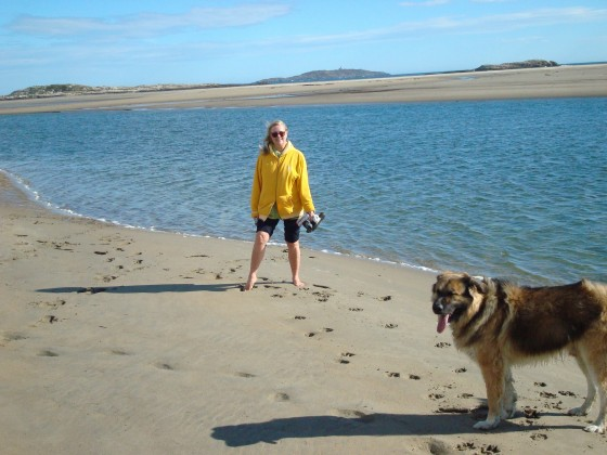 Mum and me at Popham Beach.