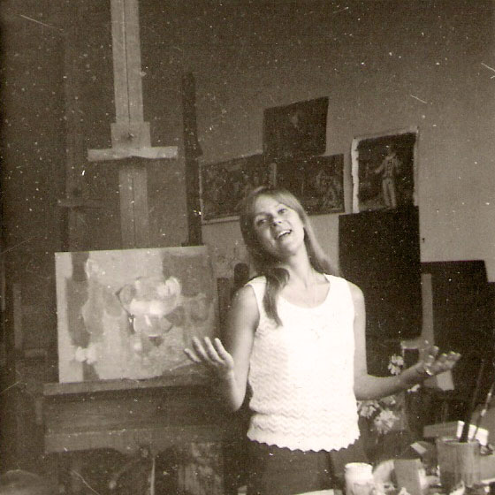 Photo in the painting studio